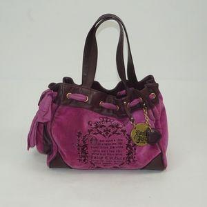 Juicy Couture Day Dreamer Velour Bag Pink/Brown.